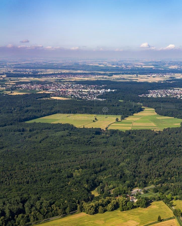 Κεραία της Ρήνος-κύριας περιοχής σε Hesse στοκ εικόνες