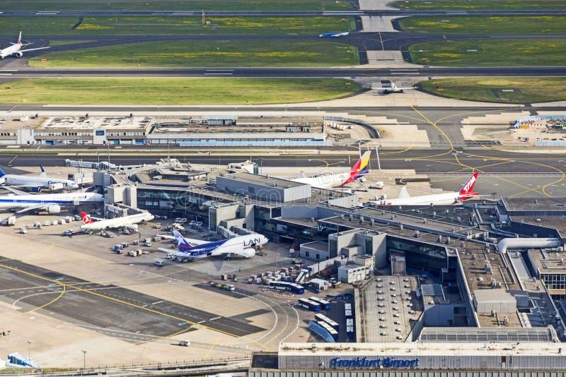 Κεραία του αερολιμένα στη Φρανκφούρτη στοκ φωτογραφία με δικαίωμα ελεύθερης χρήσης