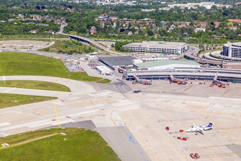 Κεραία των αεροσκαφών στην πύλη στοκ φωτογραφία με δικαίωμα ελεύθερης χρήσης