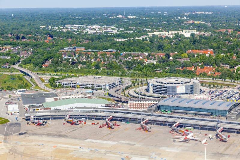 Κεραία των αεροσκαφών στην πύλη στοκ φωτογραφίες με δικαίωμα ελεύθερης χρήσης