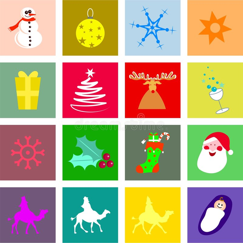 κεραμίδια Χριστουγέννων απεικόνιση αποθεμάτων