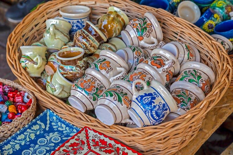 Κεραμικά δοχεία, παραδοσιακά για την περιοχή Corund στοκ φωτογραφία με δικαίωμα ελεύθερης χρήσης