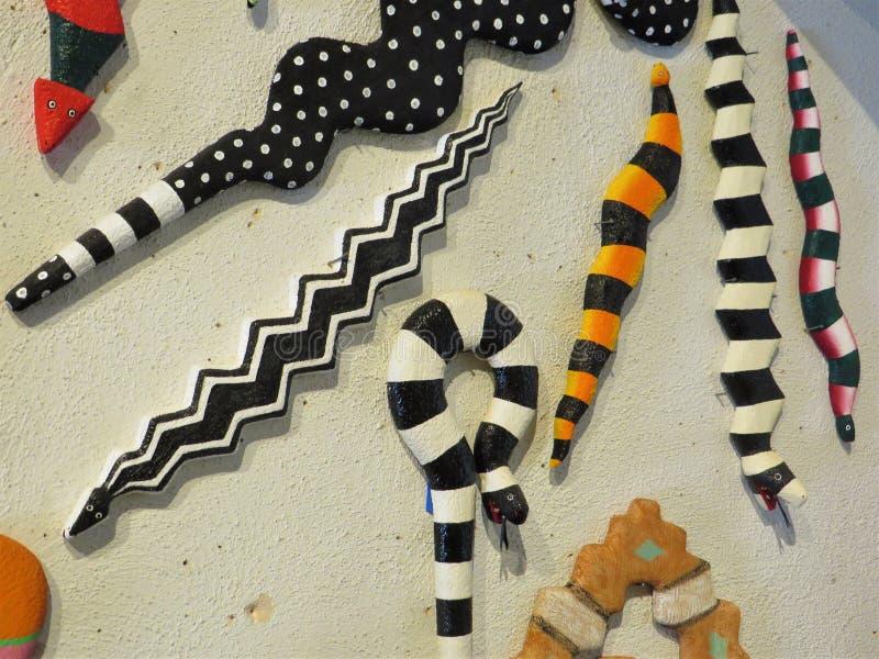 Κεραμικά φίδια, Σάντα Φε στοκ φωτογραφία με δικαίωμα ελεύθερης χρήσης
