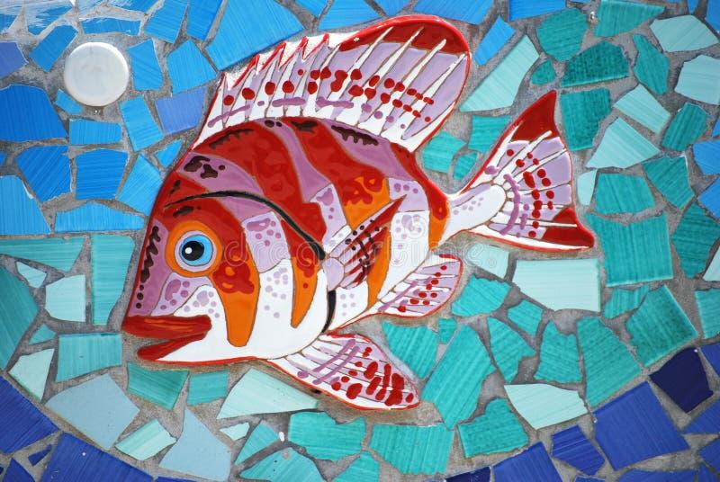 Κεραμικά ψάρια η ακτή της Αμάλφης, Ιταλία στοκ εικόνες