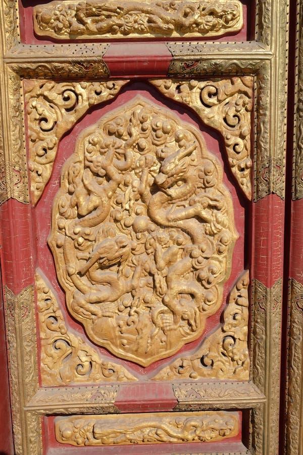Κεραμική λεπτομέρεια από τον τοίχο της Royal Palace στην απαγορευμένη πόλη, Πεκίνο στοκ φωτογραφία με δικαίωμα ελεύθερης χρήσης