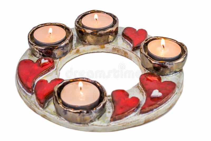 Κεραμικός κάτοχος κεριών στοκ φωτογραφία