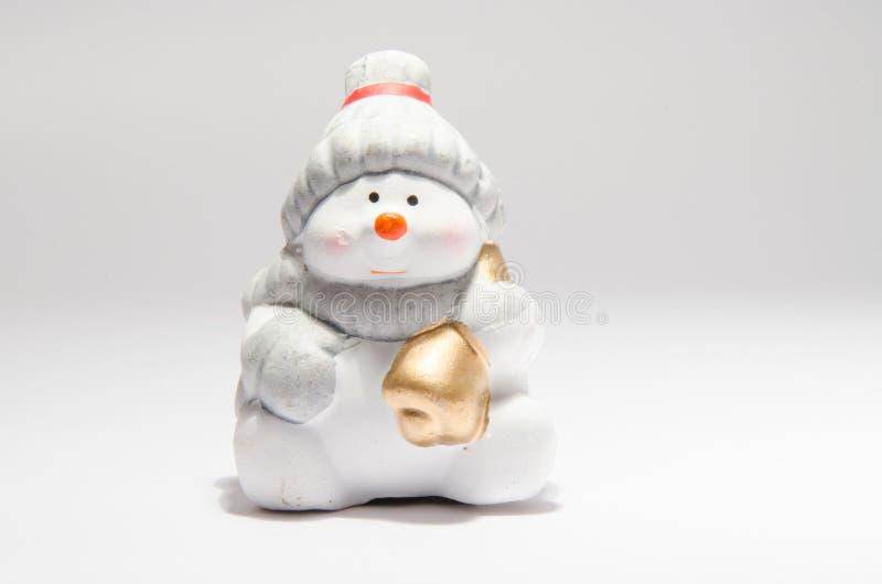 κεραμικός χιονάνθρωπος στοκ φωτογραφίες
