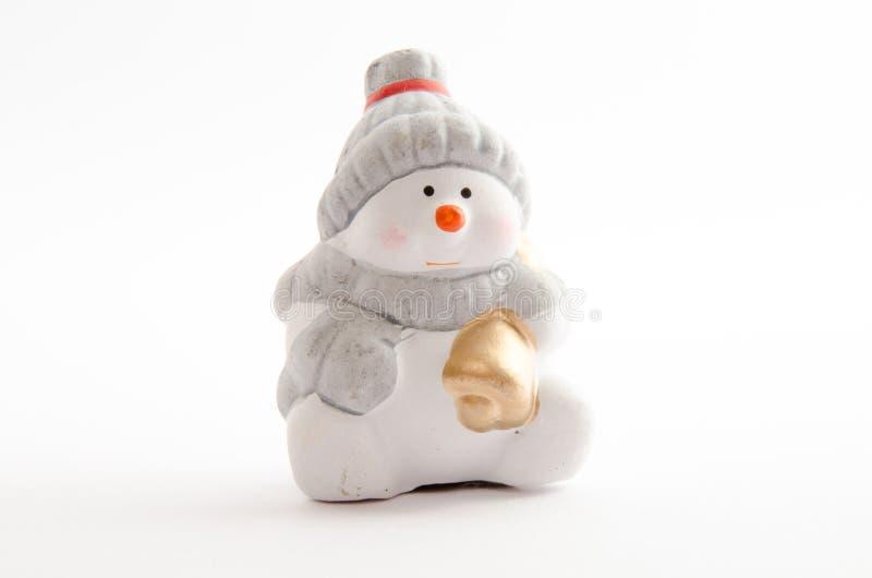 κεραμικός χιονάνθρωπος στοκ φωτογραφία