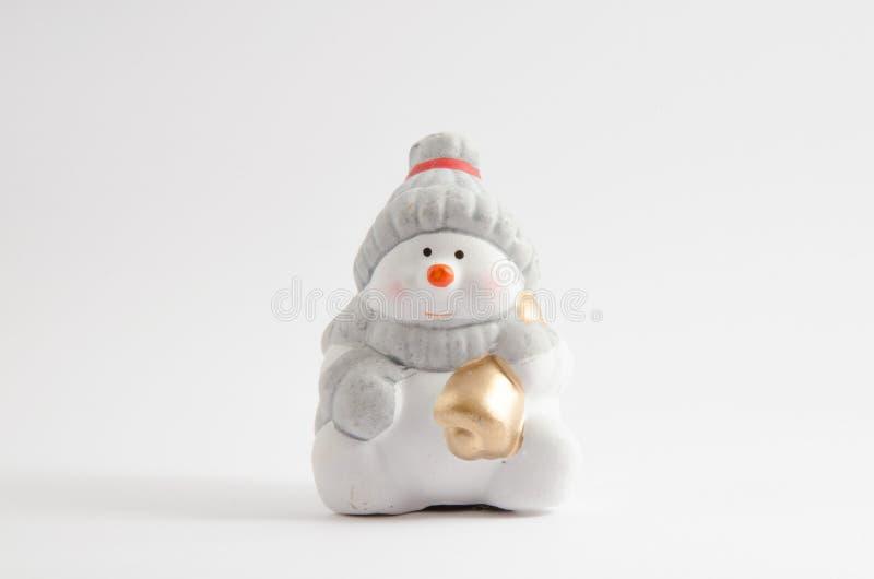 κεραμικός χιονάνθρωπος στοκ εικόνες