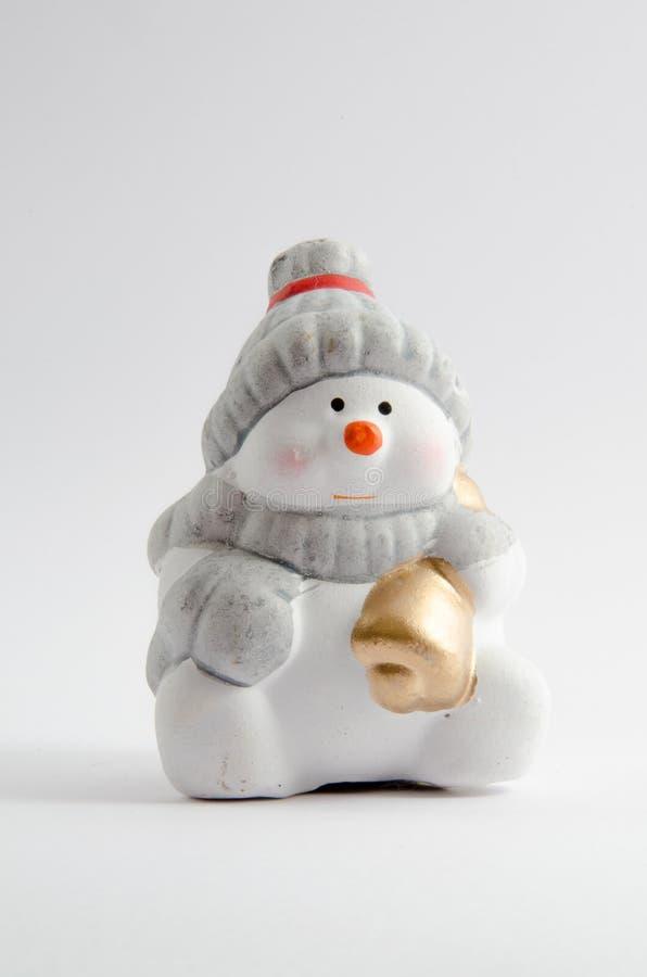 κεραμικός χιονάνθρωπος στοκ εικόνα με δικαίωμα ελεύθερης χρήσης