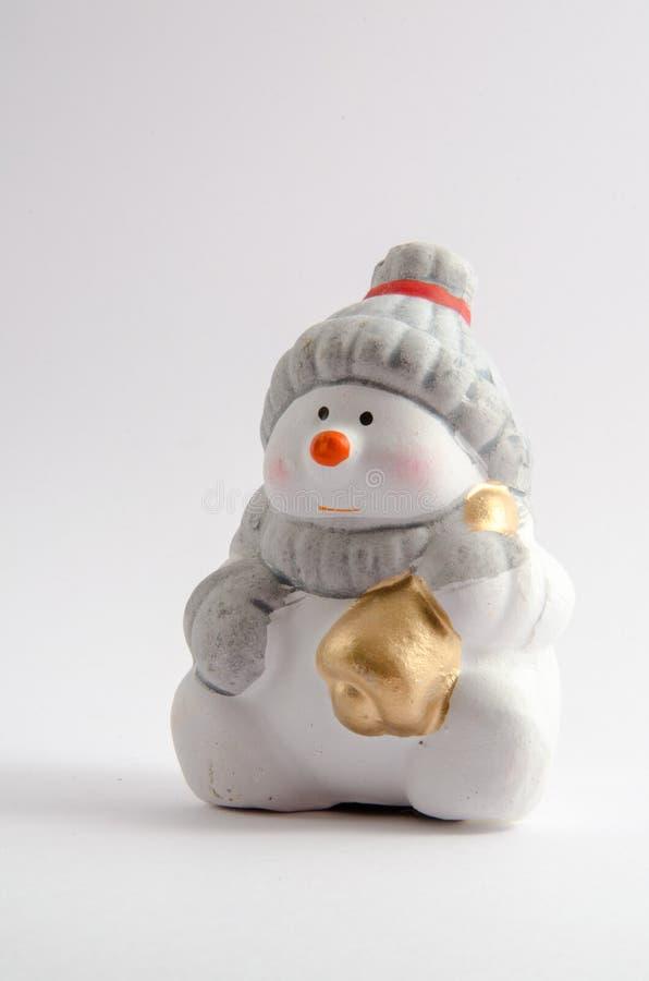κεραμικός χιονάνθρωπος στοκ φωτογραφία με δικαίωμα ελεύθερης χρήσης