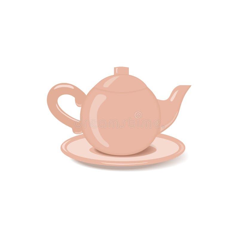 Κεραμικό teapot εικονίδιο ελεύθερη απεικόνιση δικαιώματος
