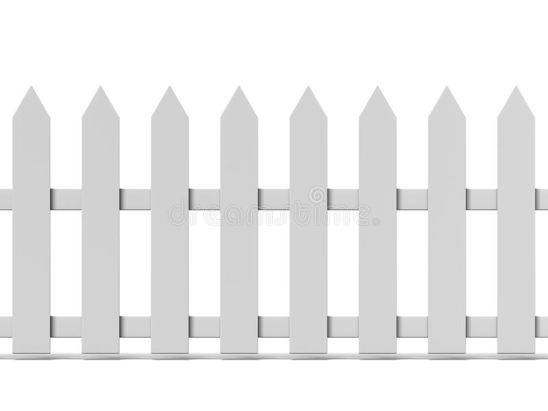 Κεραμωμένος ξύλινος φράκτης διανυσματική απεικόνιση