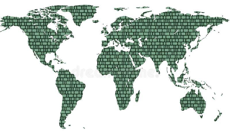 Κεραμωμένος χάρτης διανυσματική απεικόνιση