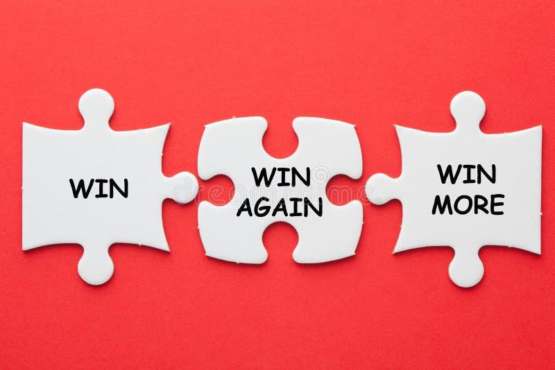 Κερδίστε κερδίζει πάλι κερδίζει περισσότερους στοκ φωτογραφία