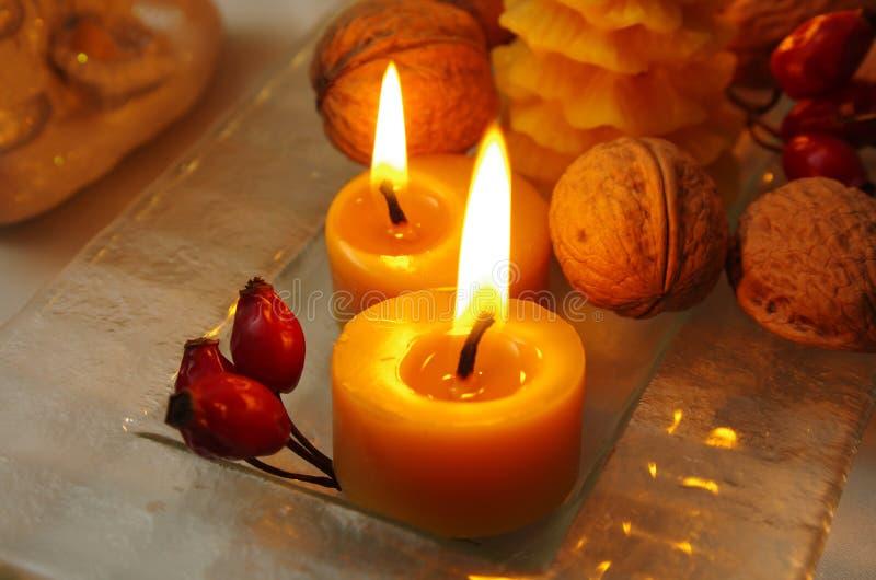 Κεριά από το μελισσοκηρό στοκ φωτογραφίες με δικαίωμα ελεύθερης χρήσης