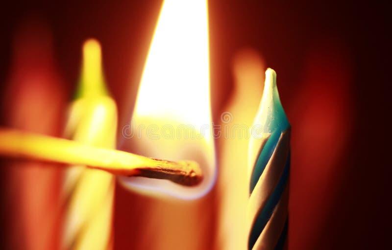 κεριά γενεθλίων στοκ εικόνες με δικαίωμα ελεύθερης χρήσης