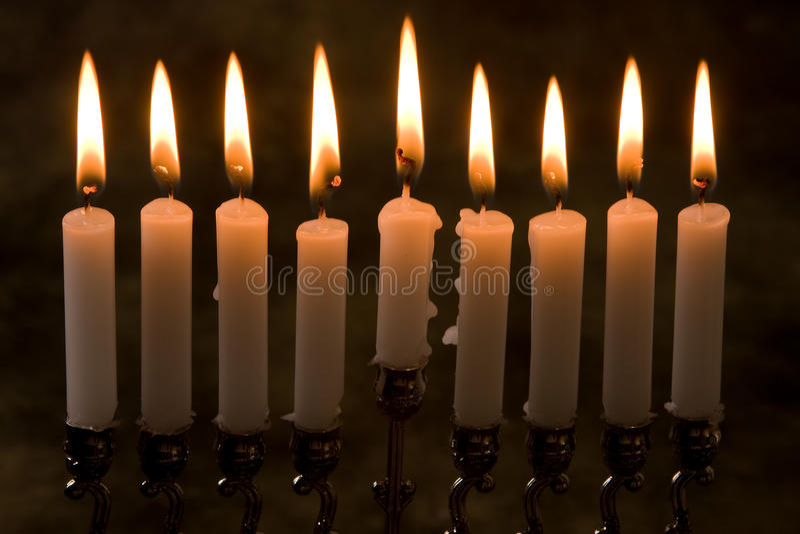 κεριά εννέα στοκ εικόνες