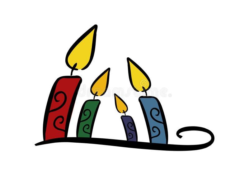 κεριά ζωηρόχρωμα ελεύθερη απεικόνιση δικαιώματος