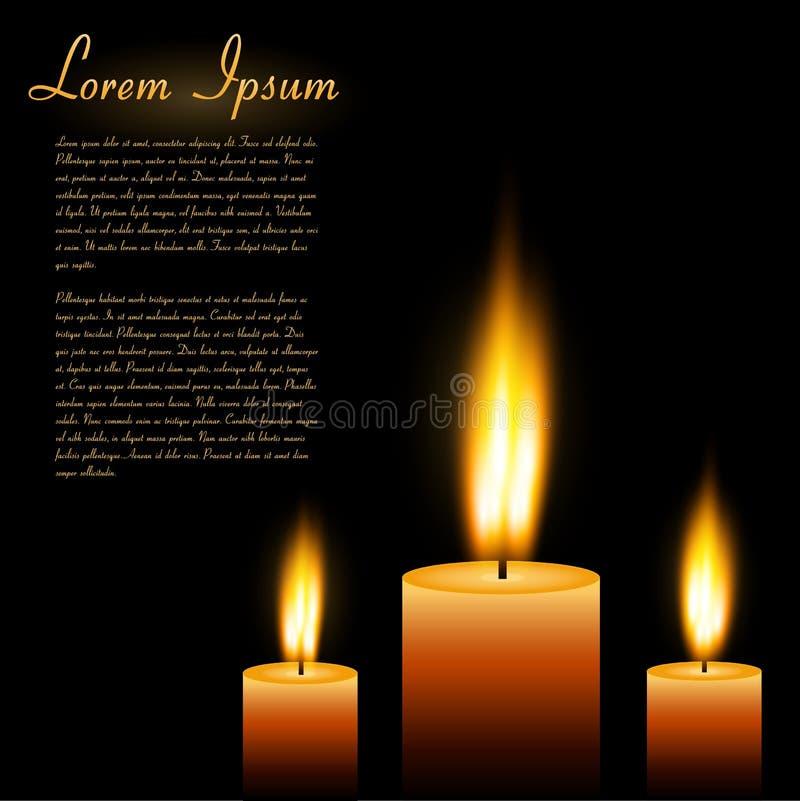 Κεριά, διανυσματική απεικόνιση ελεύθερη απεικόνιση δικαιώματος