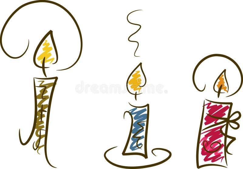 κεριά ΙΙΙ σύνολο απεικόνιση αποθεμάτων
