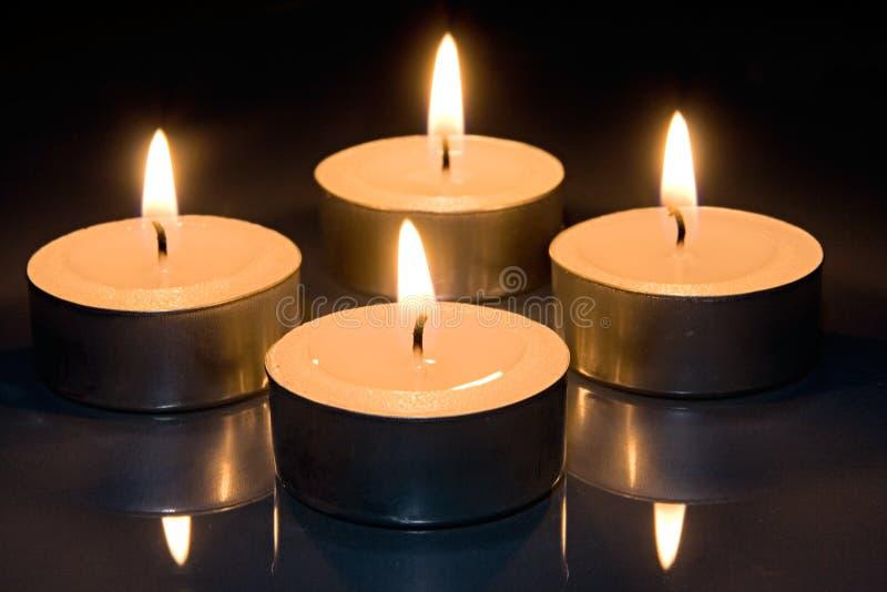 κεριά τέσσερα στοκ εικόνα