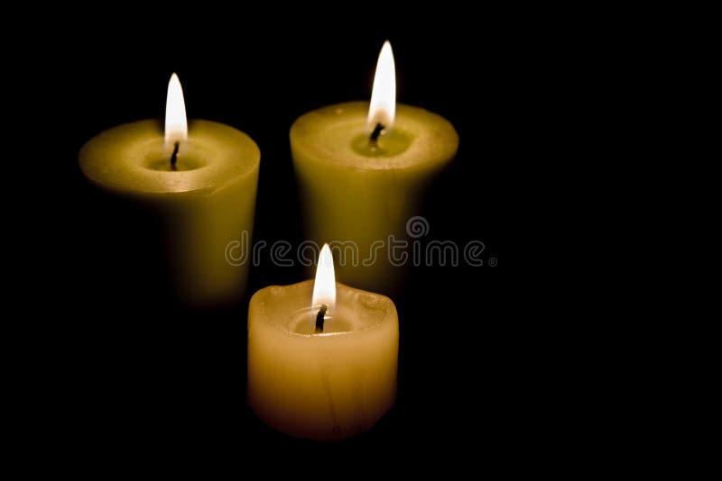 κεριά τρία στοκ φωτογραφίες με δικαίωμα ελεύθερης χρήσης