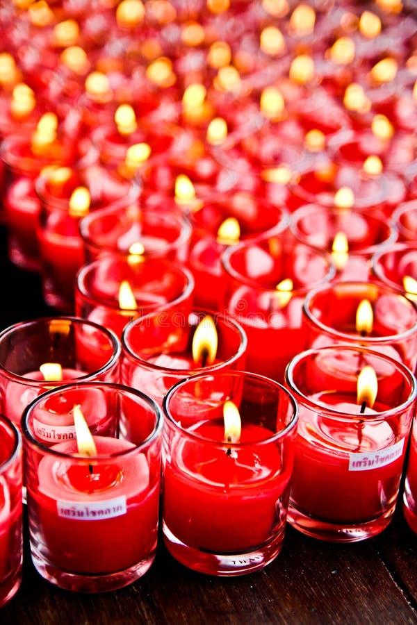 Κεριά φλυτζανιών τύχης στοκ εικόνα