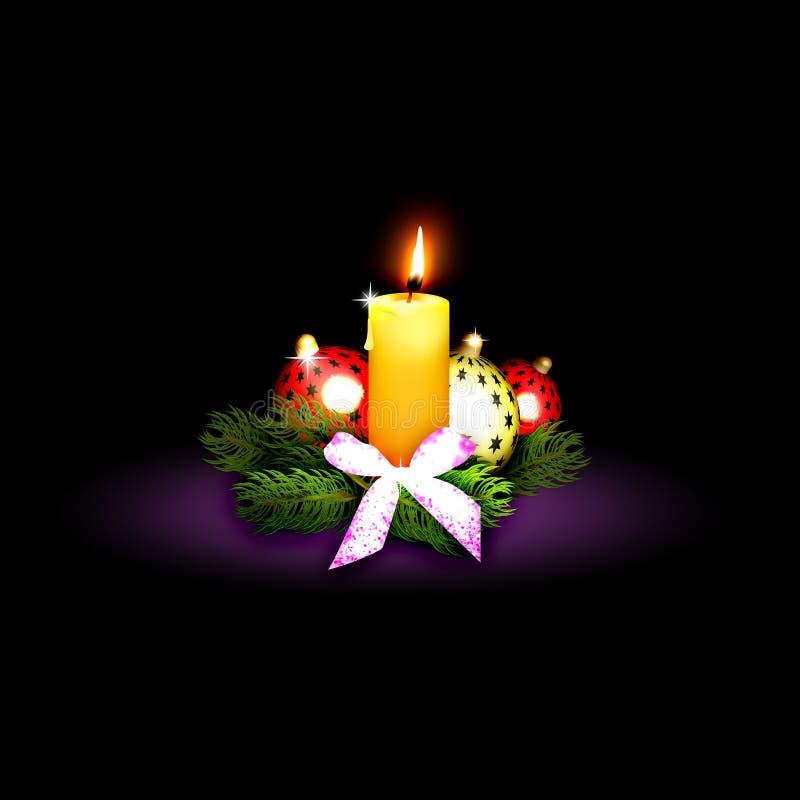 Κεριά Χριστουγέννων στοκ φωτογραφία