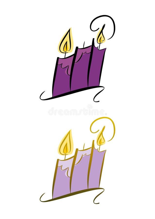 Κεριά ελεύθερη απεικόνιση δικαιώματος