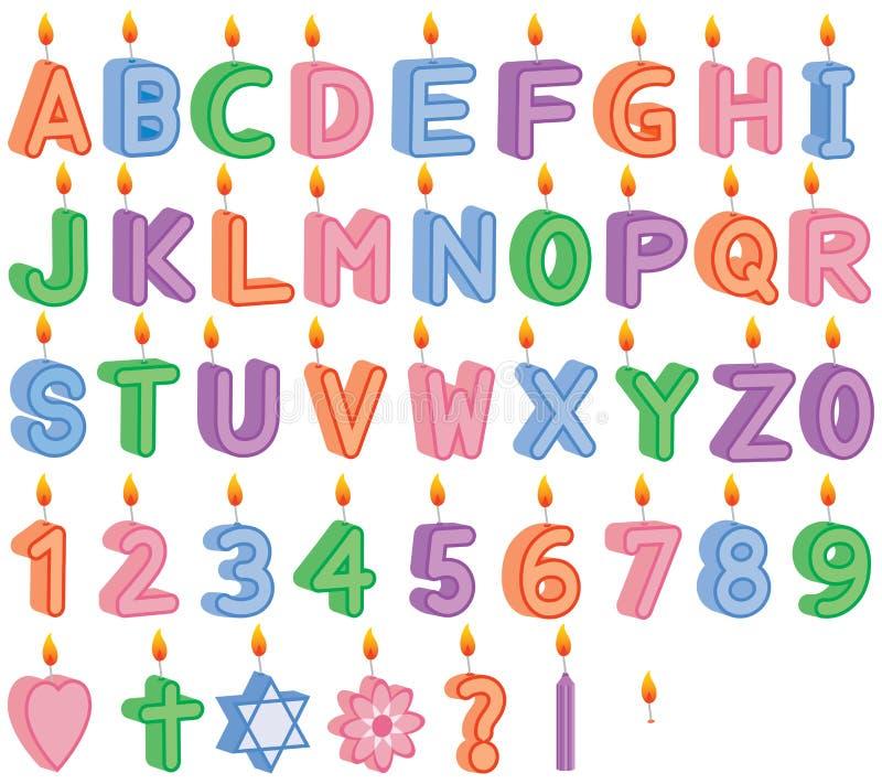 Κεριά LIT γενεθλίων και εορτασμού στοκ φωτογραφία με δικαίωμα ελεύθερης χρήσης