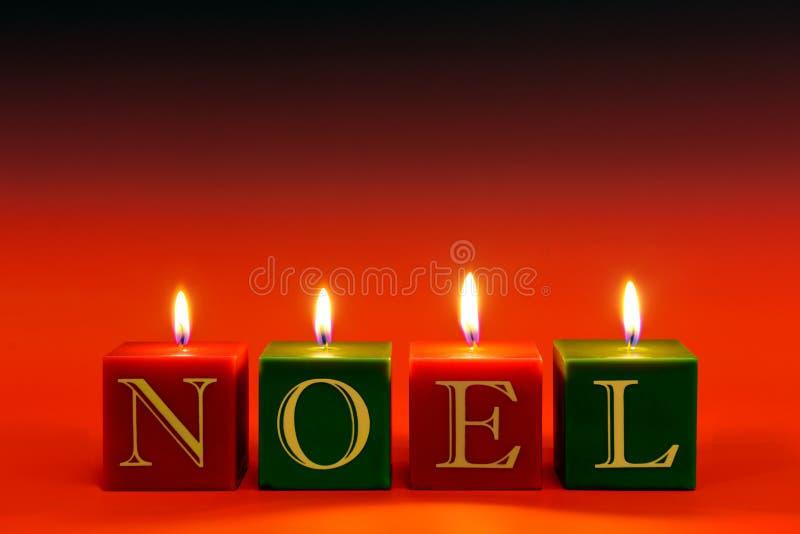 Κεριά NOEL στοκ φωτογραφία με δικαίωμα ελεύθερης χρήσης
