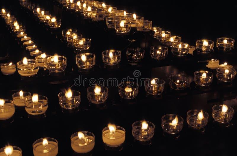 κεριά votive στοκ φωτογραφία