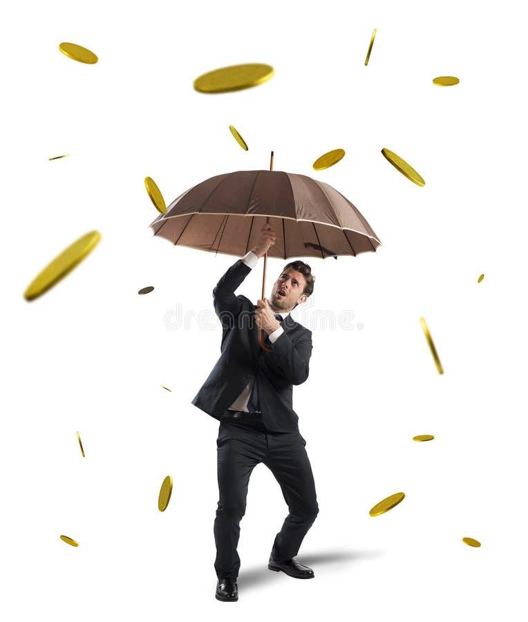 Κερδίστε τη βροχή χρημάτων στοκ φωτογραφίες