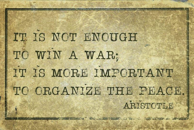 Κερδίστε τον πόλεμο Αριστοτέλης στοκ εικόνες