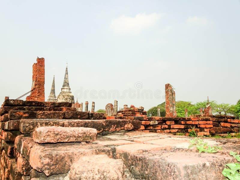 Κεφάλαιο Ayutthaya του βασίλειου του Σιάμ στοκ φωτογραφία με δικαίωμα ελεύθερης χρήσης