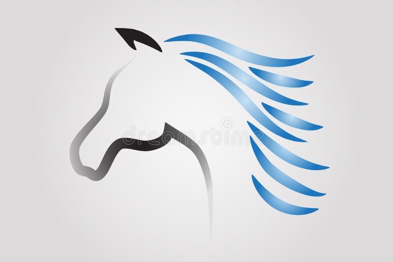 Κεφάλι αλόγων αγώνων λογότυπων διανυσματική απεικόνιση