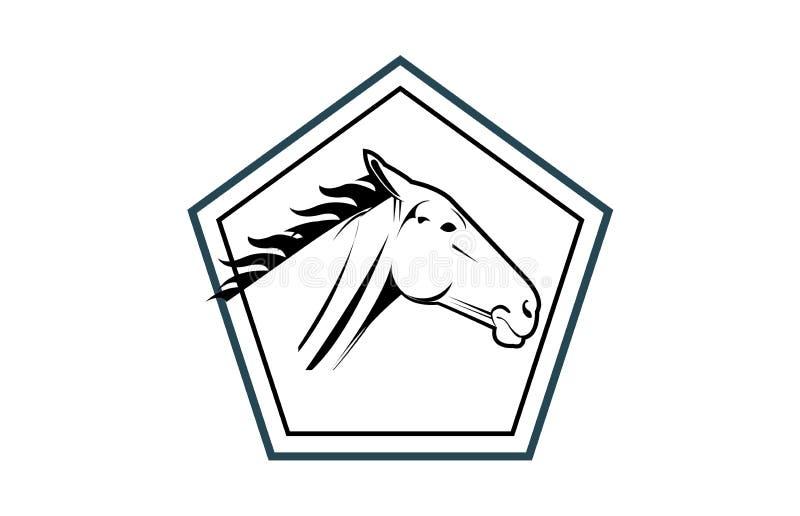 Κεφάλι αλόγων σε ένα λογότυπο πολυγώνων διανυσματική απεικόνιση