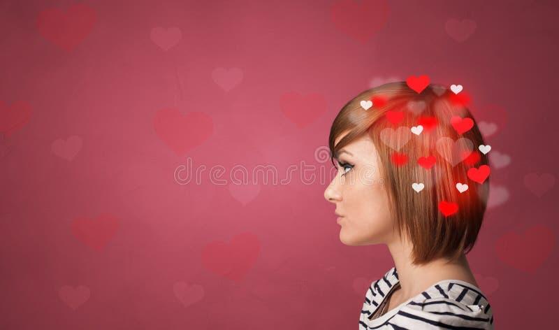 Κεφάλι γεμάτο αγάπη στοκ εικόνες με δικαίωμα ελεύθερης χρήσης