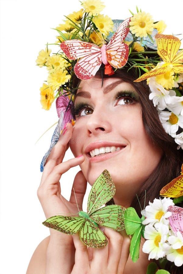 κεφάλι κοριτσιών λουλ&omicro στοκ φωτογραφίες
