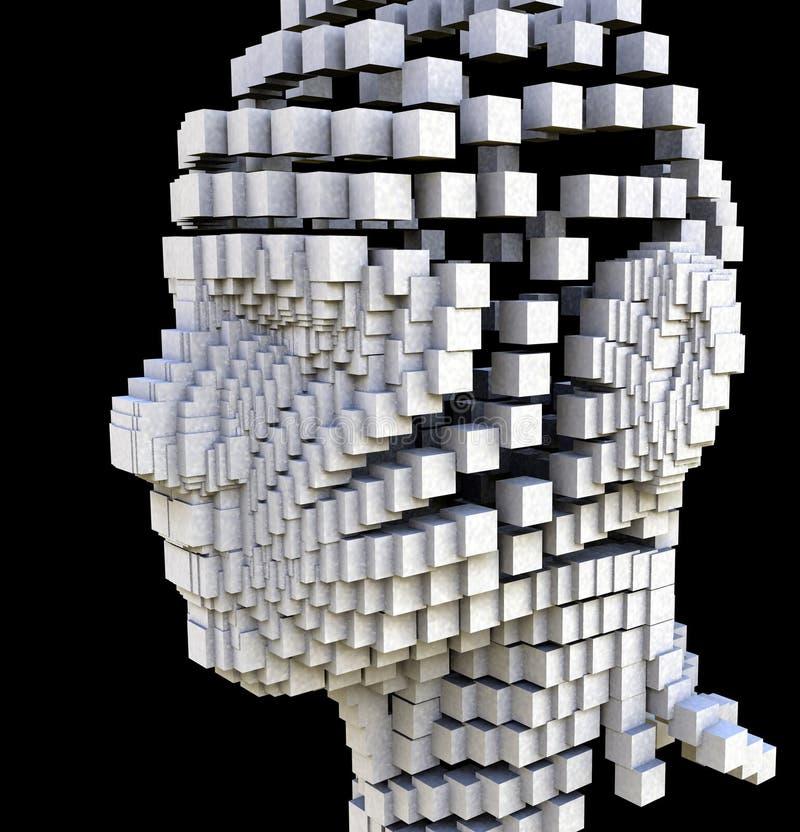 κεφάλι ομάδων δεδομένων στοκ εικόνα