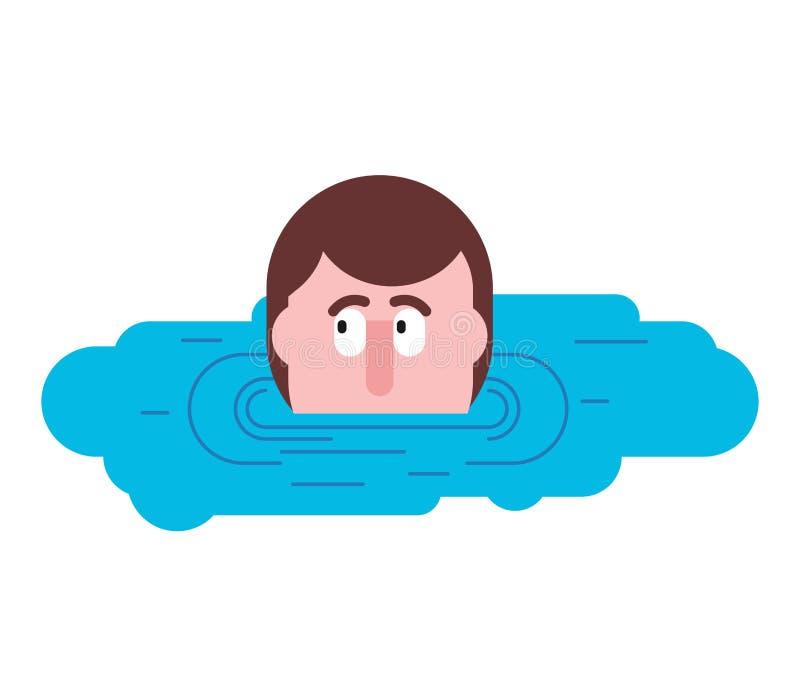 Κεφάλι στη λακκούβα Το άτομο κοιτάζει από τη λακκούβα διανυσματική απεικόνιση