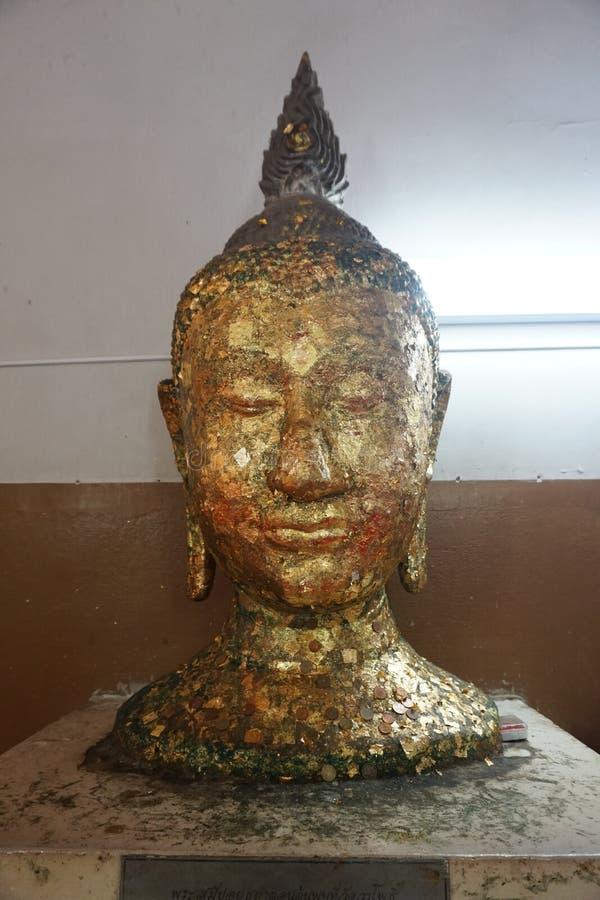 Κεφάλι αγαλμάτων του Βούδα στοκ φωτογραφίες