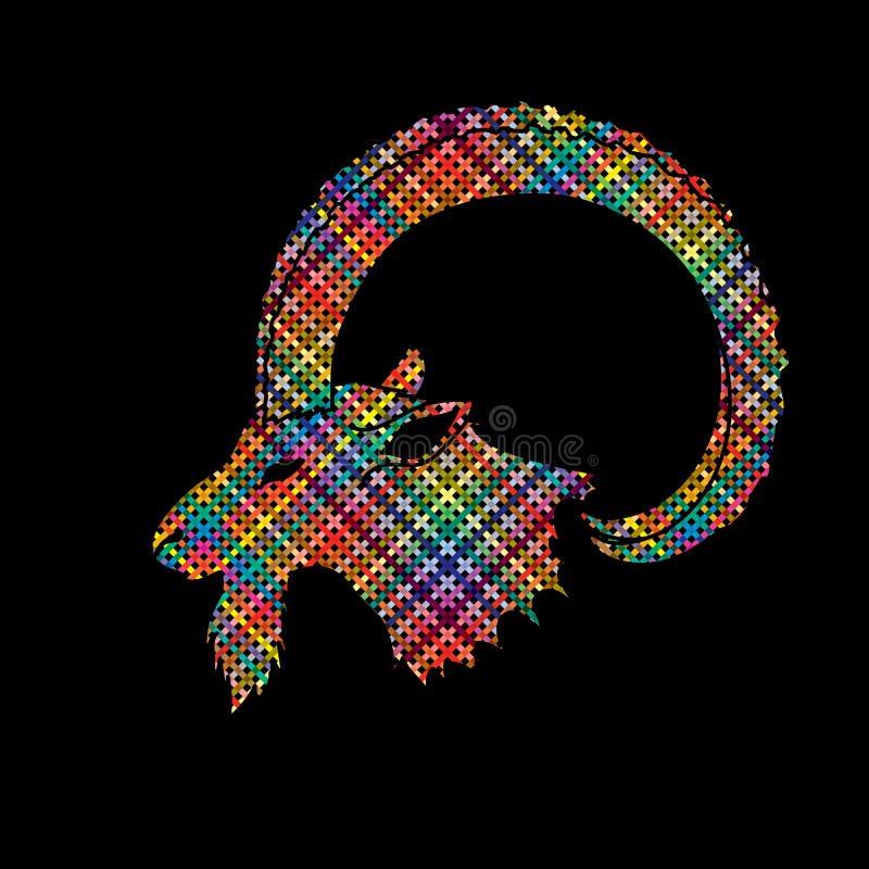 Κεφάλι αγριοκάτσικων απεικόνιση αποθεμάτων