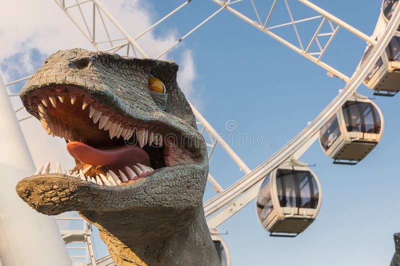 Κεφάλι δεινοσαύρων στοκ φωτογραφίες