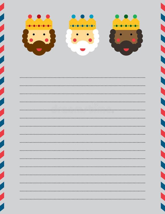 Κεφάλι επιστολών μάγων Χριστουγέννων διανυσματική απεικόνιση
