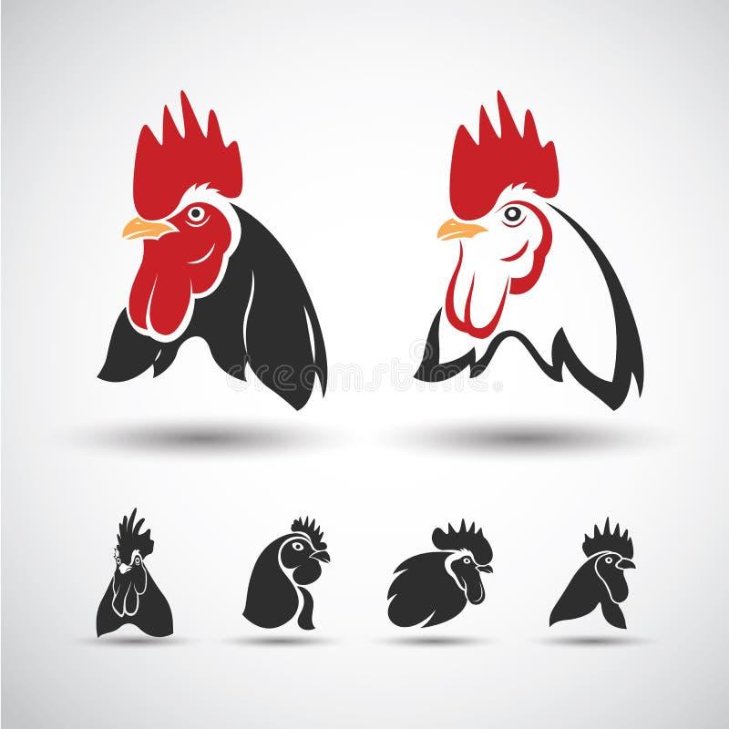 Κεφάλι κοτόπουλου διανυσματική απεικόνιση