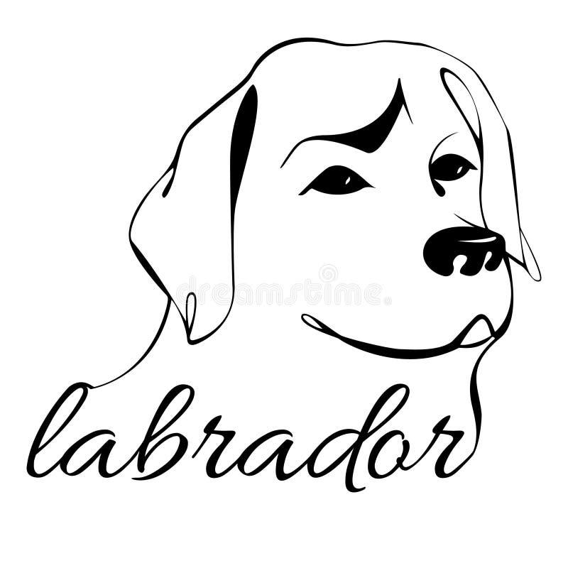 Κεφάλι σκυλιών του Λαμπραντόρ ελεύθερη απεικόνιση δικαιώματος