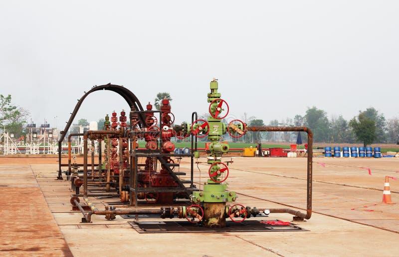Κεφάλι φρεατίων φυσικού αερίου στοκ εικόνες