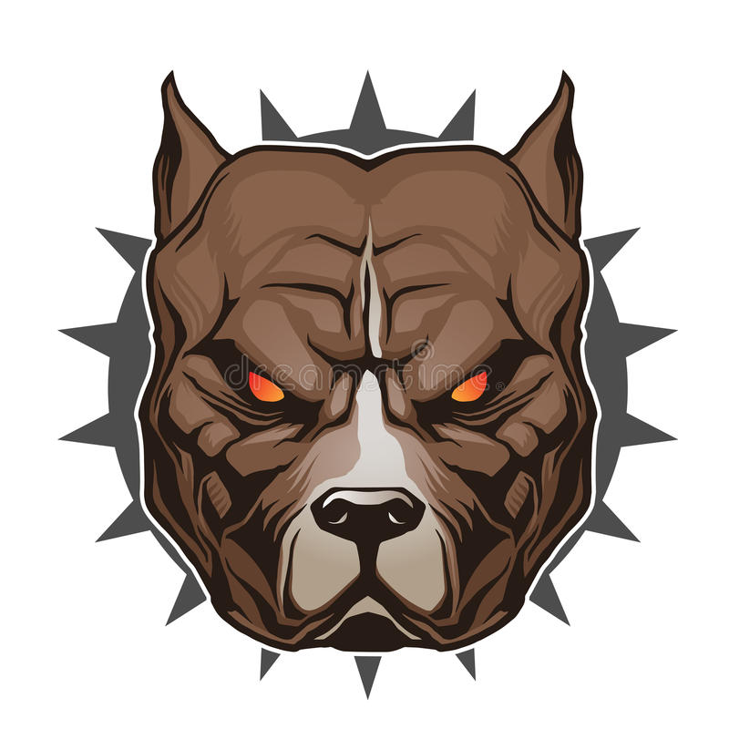 κεφάλι pitbull ελεύθερη απεικόνιση δικαιώματος